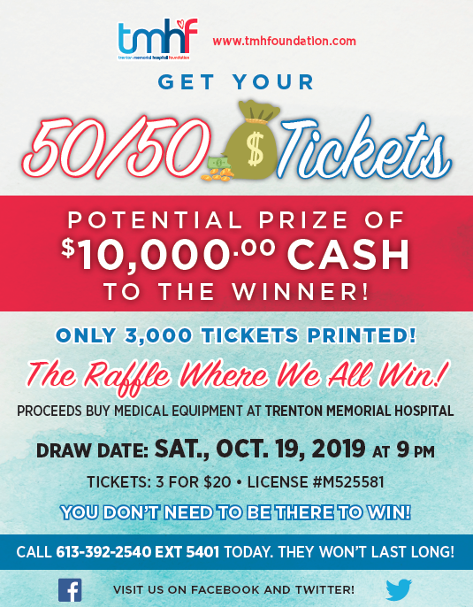 2019 50-50 Raffle for a chance to win up to $10,000 | TMH